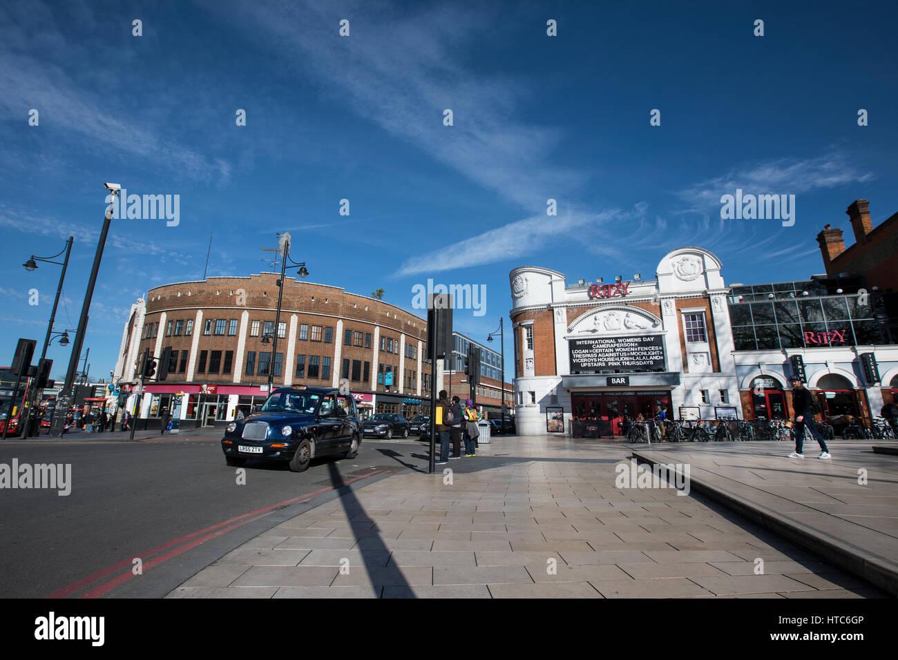 The Ritzy Cinema in Windrush Square in Brixton, London. - Stock Image