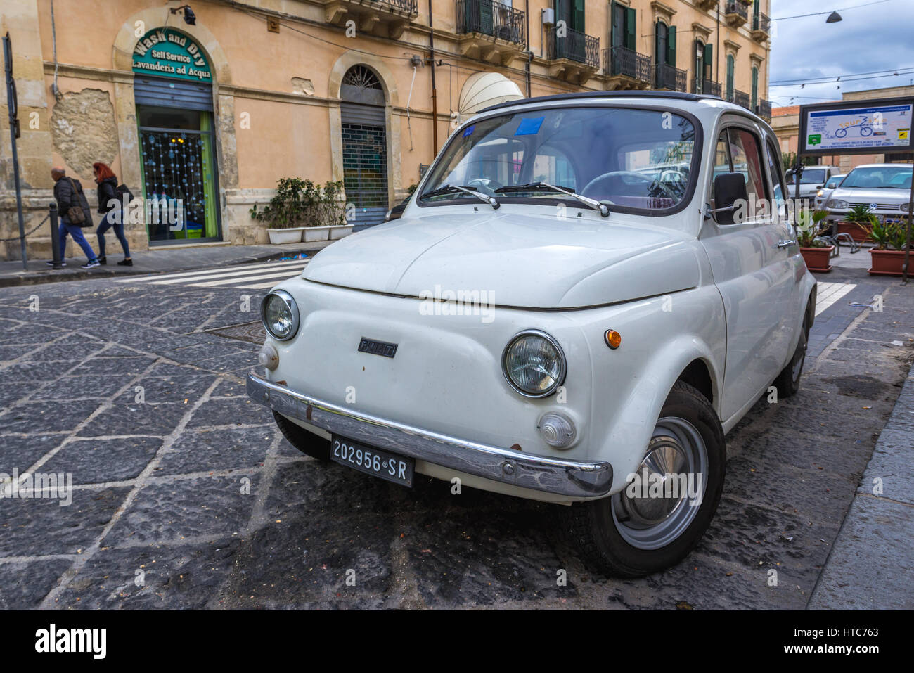 Old Fiat 500 R Rinnovata Car In Syracuse City Southeast Corner Of