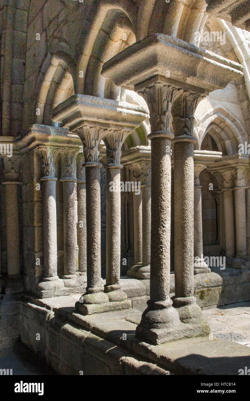 Cloister of Cathedral Se, Porto Portugal Stock Photo