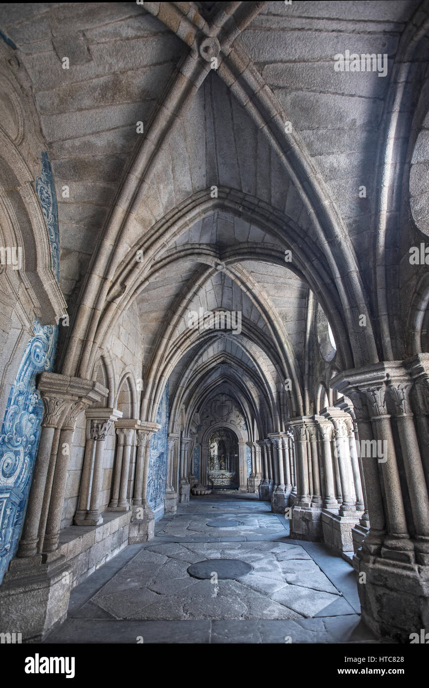 Cloister of Se Cathedral Porto Stock Photo