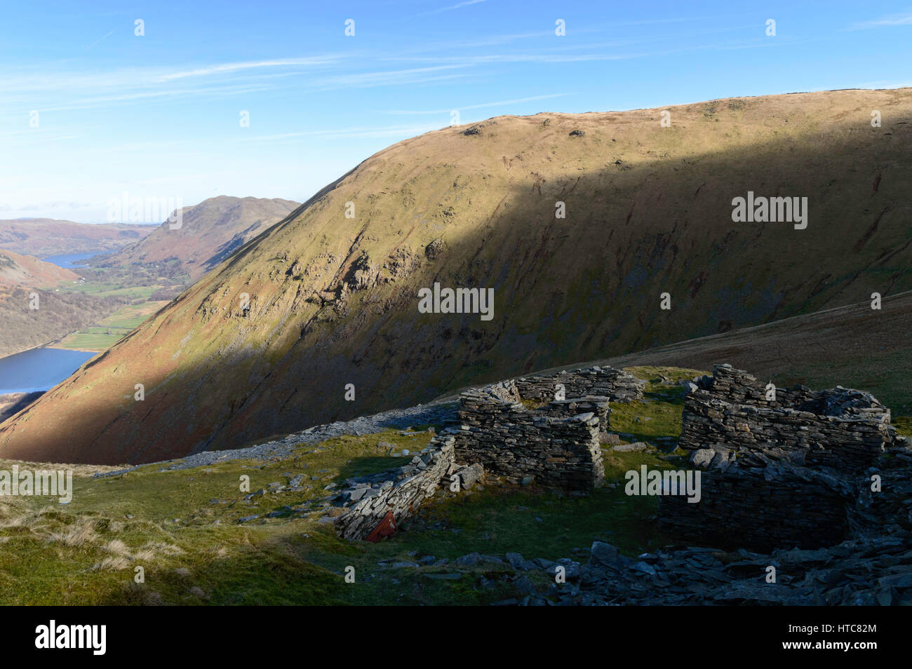 Caudale Mine in The Far Eastern Fells of the English Lake District - Stock Image