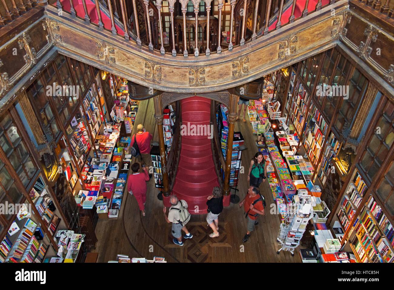 Lello Bookstore Porto Portugal - Stock Image