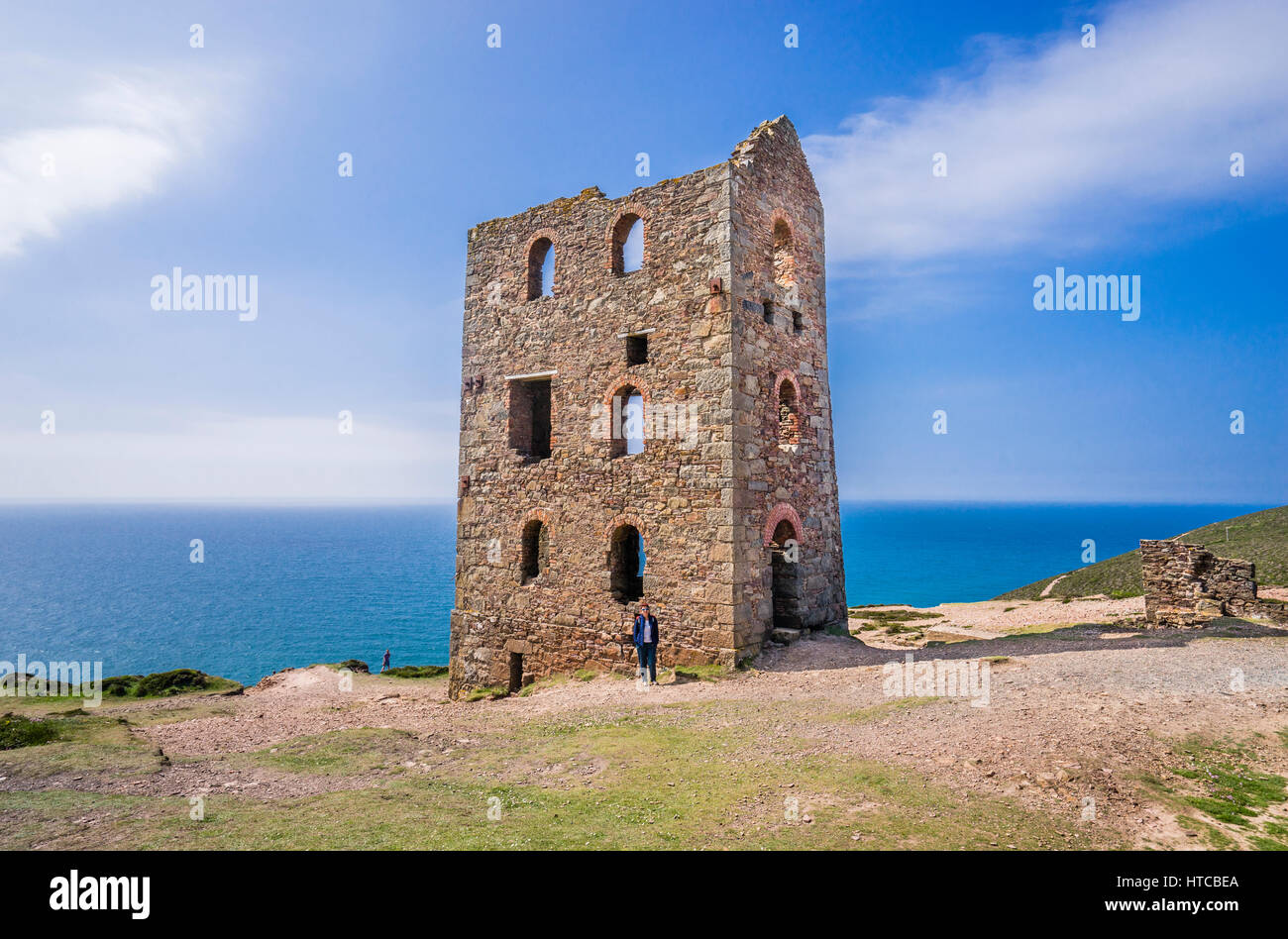 United Kingdom, South West England, Cornwall, St. Agnes Heritage Coast, the historic Cornish mining site of Wheal - Stock Image
