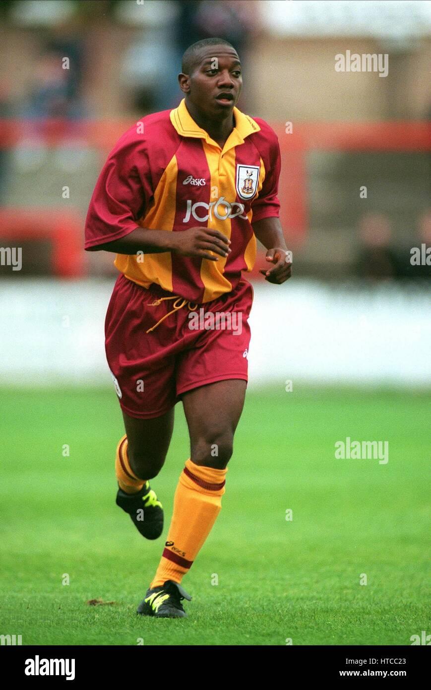 ISAIAH RANKIN BRADFORD CITY FC 21 July 1999 - Stock Image