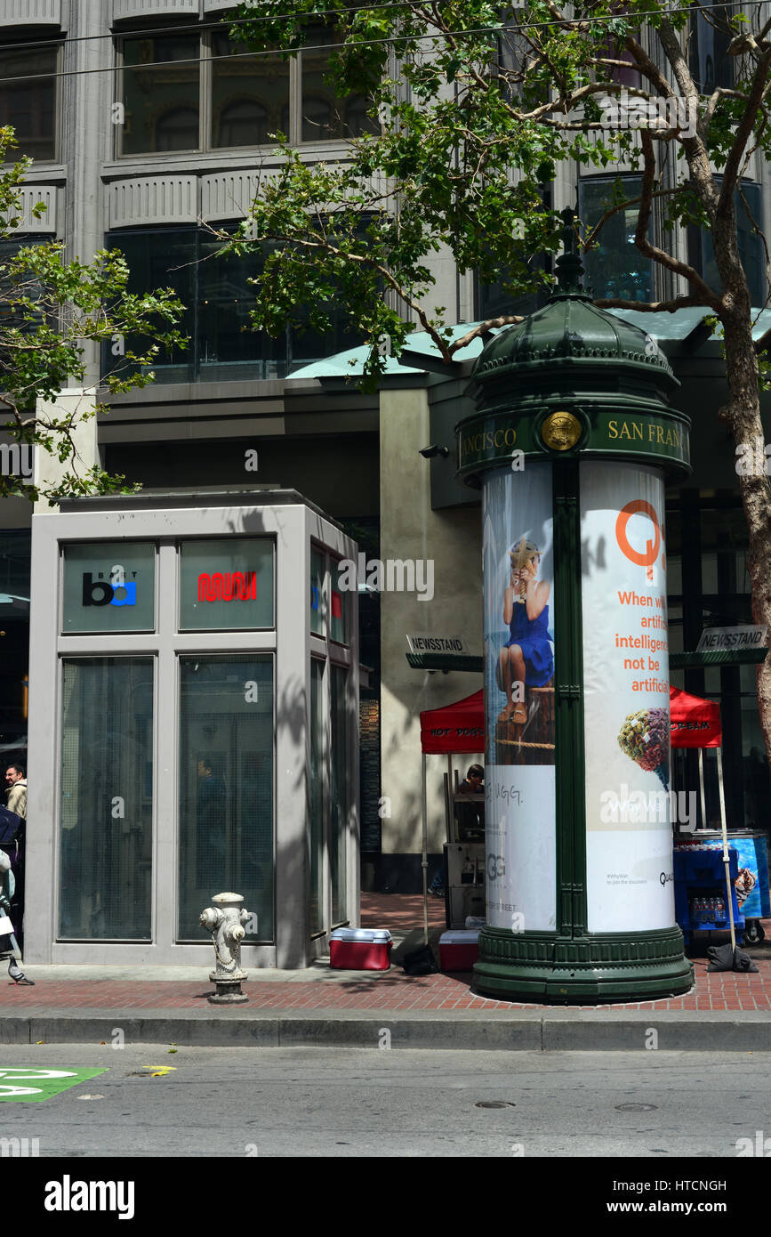 Market Street San Francisco on a day in June - Stock Image