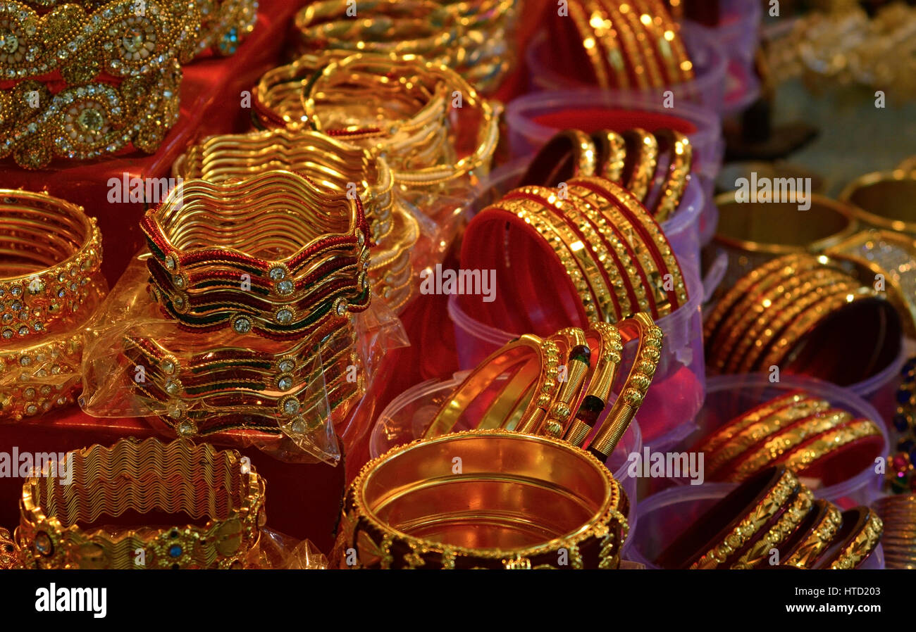 Multicolored Indian bangles - Stock Image