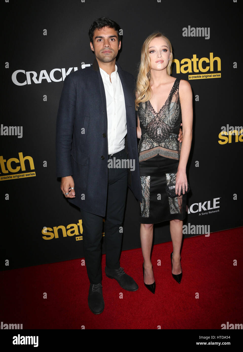 Culver City, Ca. 09th Mar, 2017. Sean Teale, Phoebe Dynevor, At Premiere Screening of Crackle's 'Snatch' - Stock Image