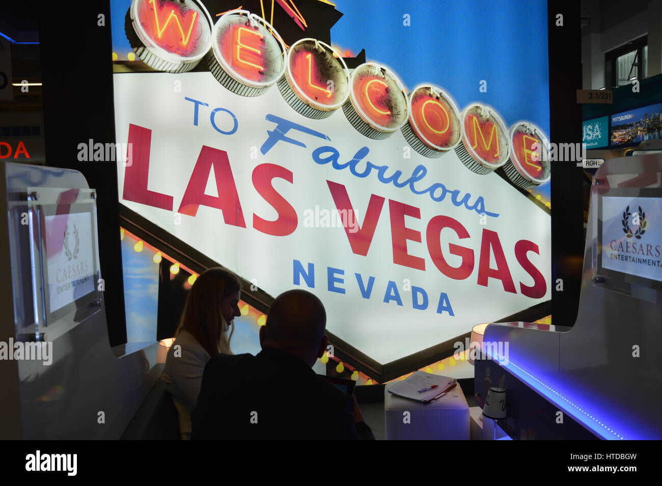Berlin, Germany. 9th March 2017. ITB 2017 international travel trade show underway in Berlin, Germany. Las Vegas Stock Photo