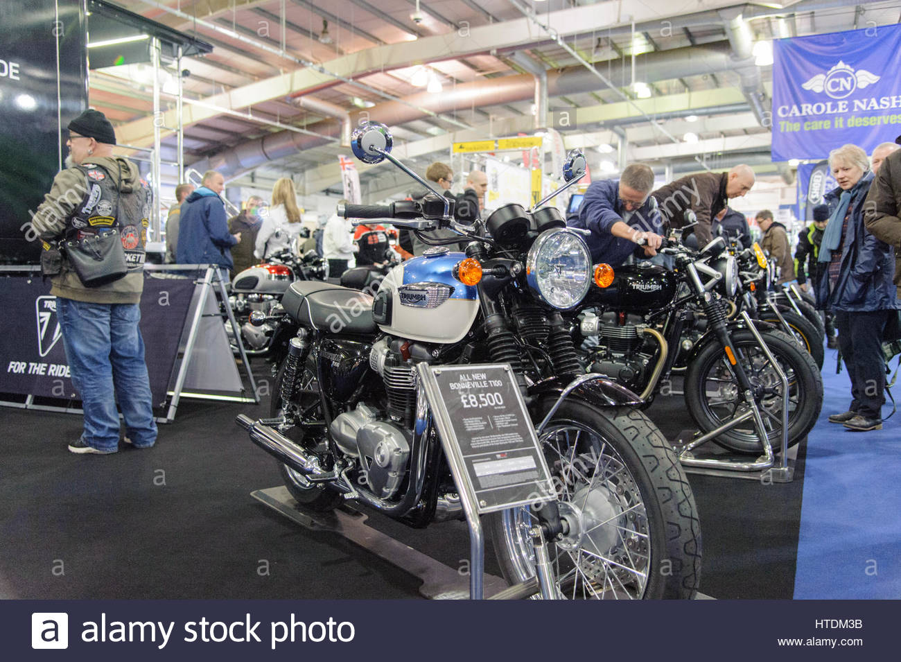 Edinburgh, UK. 11 March, 2017. Triumph stand at the Carole Nash MCN Scottish Motorcycle Show. Roger Gaisford/Alamy - Stock Image