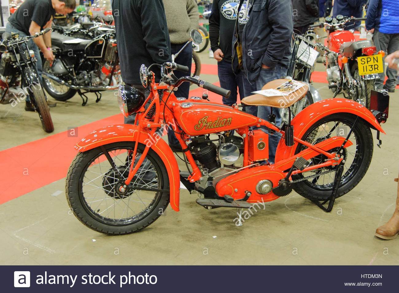 Edinburgh, UK. 11 March, 2017. A vintage Indian motorcycle at the Carole Nash MCN Scottish Motorcycle Show. Roger - Stock Image