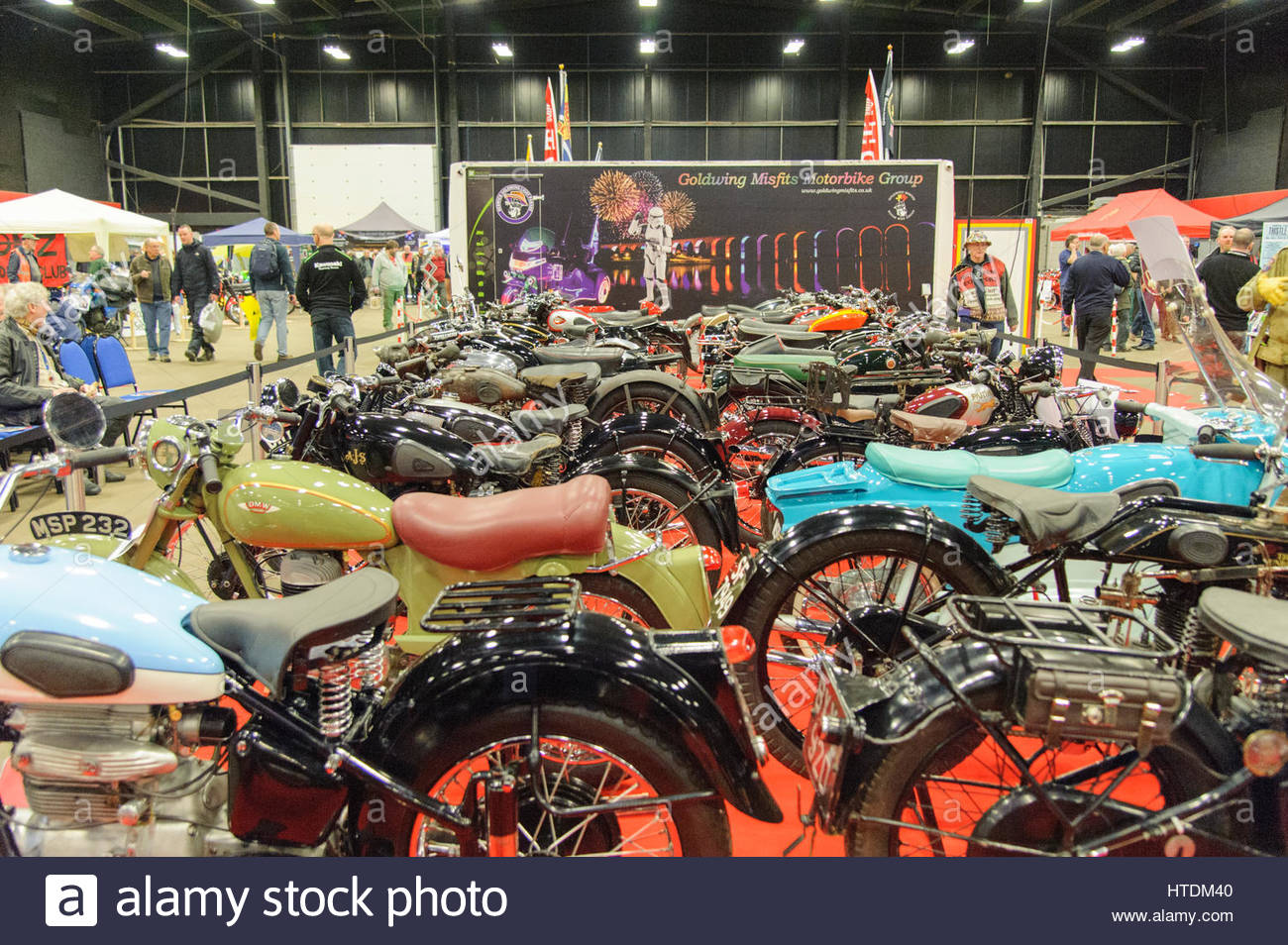 Edinburgh, UK. 11 March, 2017. Part of the classic bike display at the Carole Nash MCN Scottish Motorcycle Show. - Stock Image