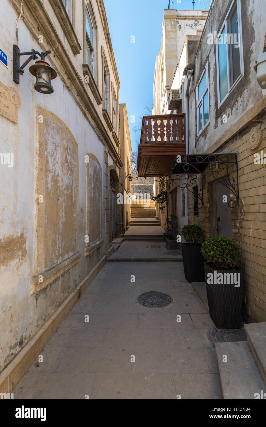 Azerbaijan, Baku, Old town city - Stock Image