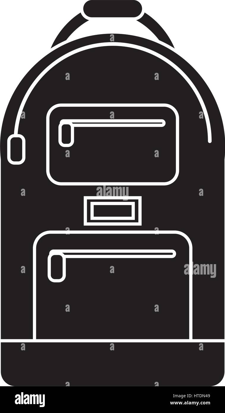 backpack school design pictogram Stock Vector Art