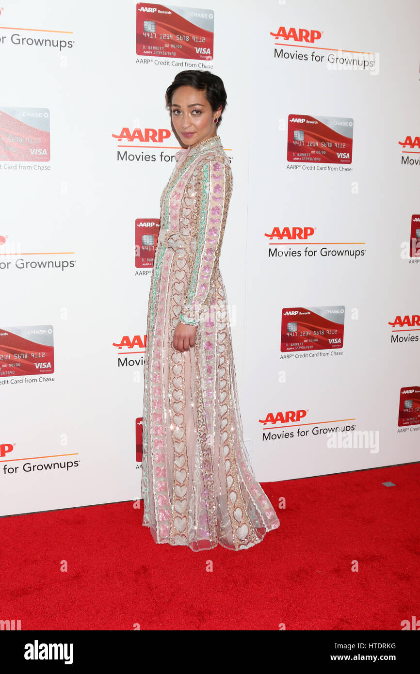AARP Movies for Grownups Awards at Beverly Wilshire Hotel on February 6, 2017 in Beverly Hills, CA  Featuring: Ruth - Stock Image