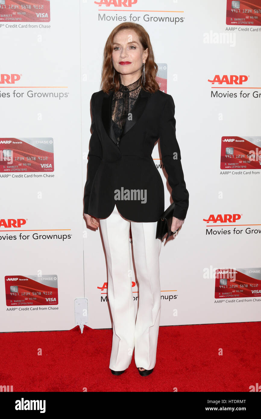 AARP Movies for Grownups Awards at Beverly Wilshire Hotel on February 6, 2017 in Beverly Hills, CA  Featuring: Isabelle - Stock Image