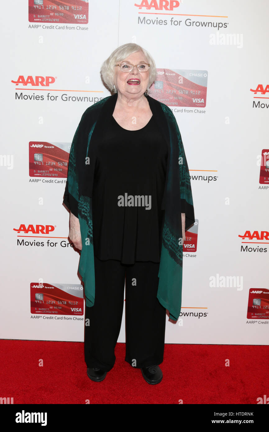 AARP Movies for Grownups Awards at Beverly Wilshire Hotel on February 6, 2017 in Beverly Hills, CA  Featuring: June - Stock Image