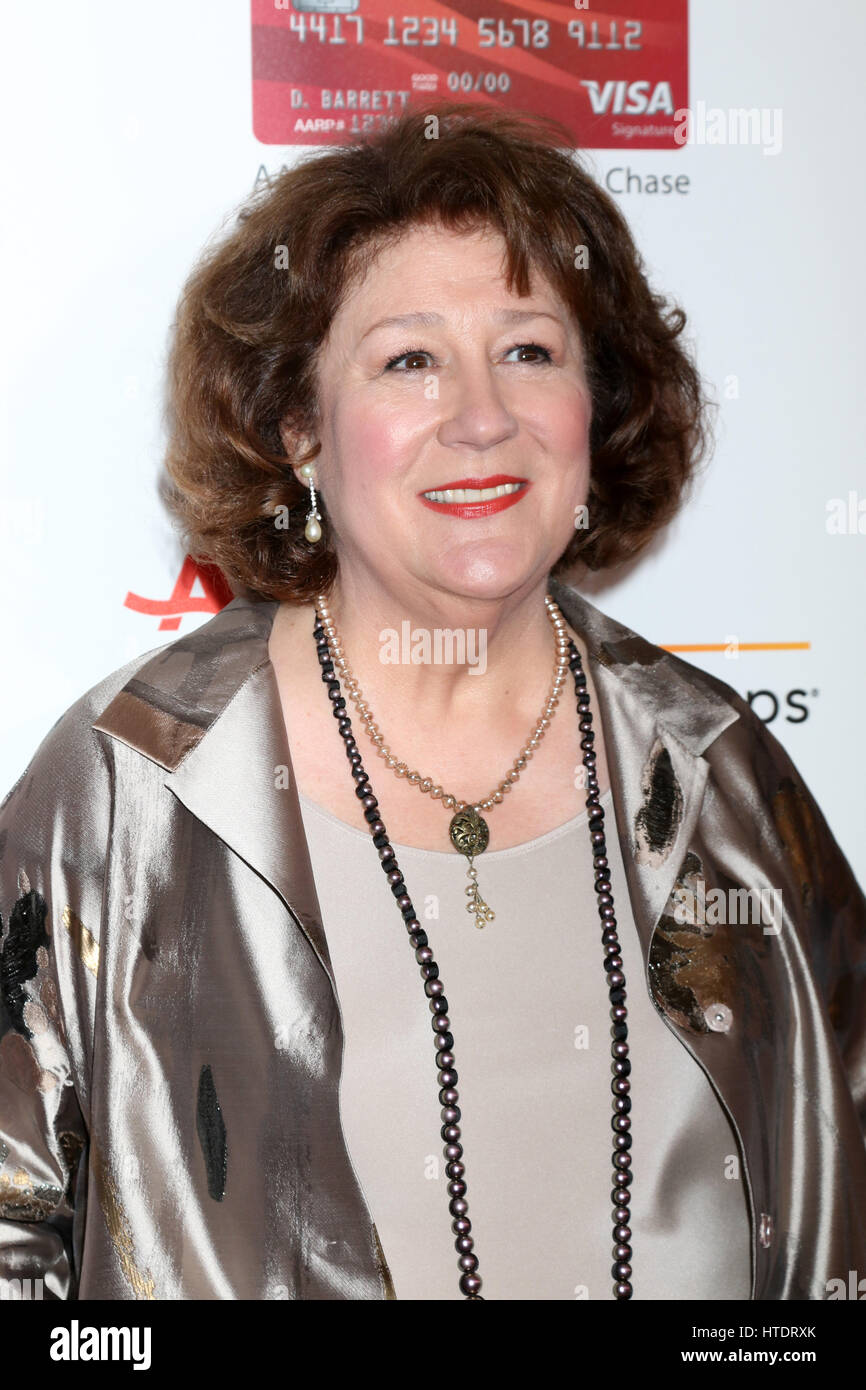 AARP Movies for Grownups Awards at Beverly Wilshire Hotel on February 6, 2017 in Beverly Hills, CA  Featuring: Margo - Stock Image