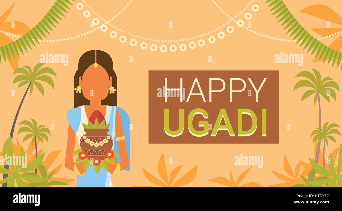 Happy ugadi and gudi padwa hindu new year greeting card holiday happy ugadi and gudi padwa hindu new year greeting card holiday m4hsunfo