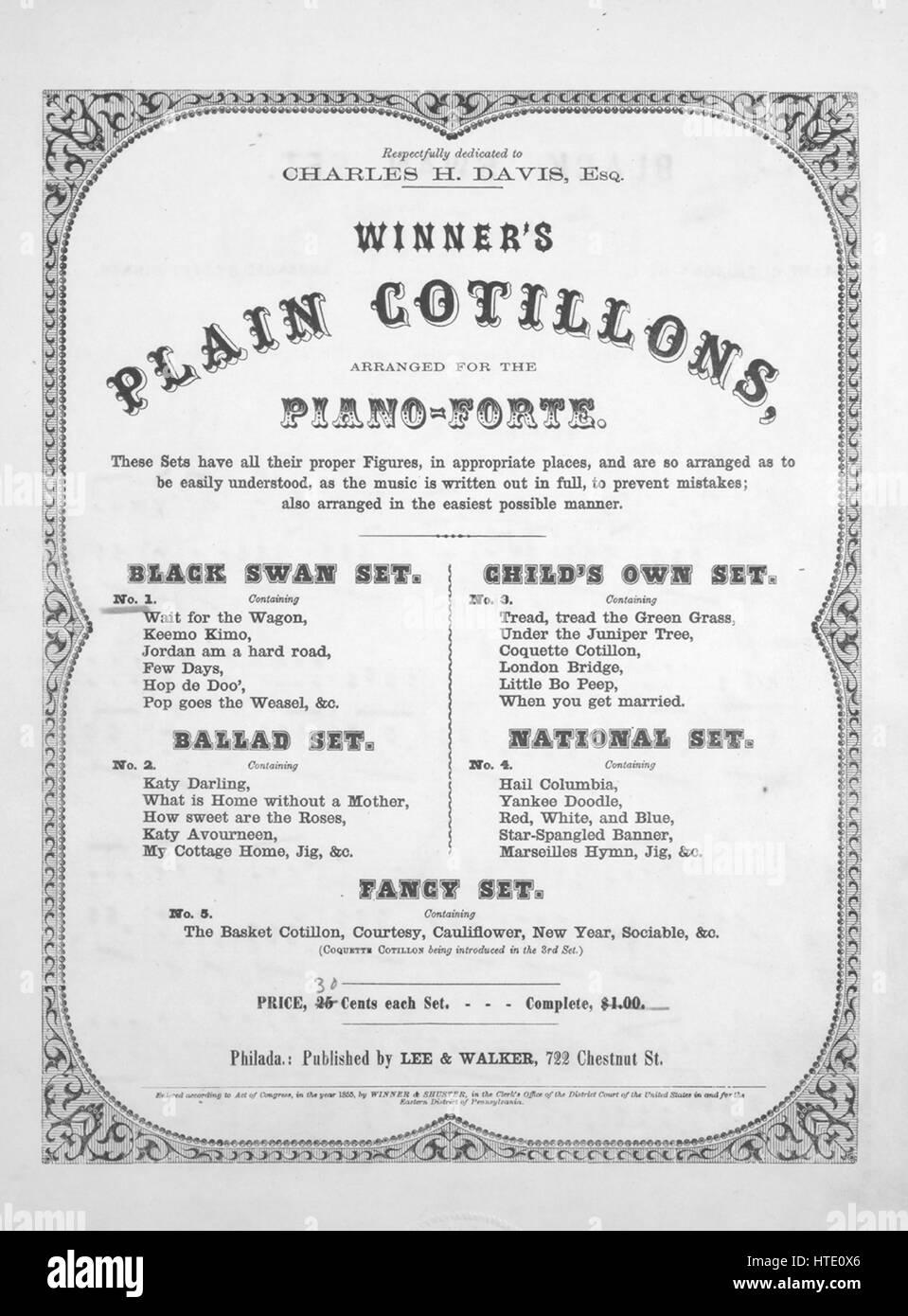 Sheet music cover image of the song 'Winner's Plain