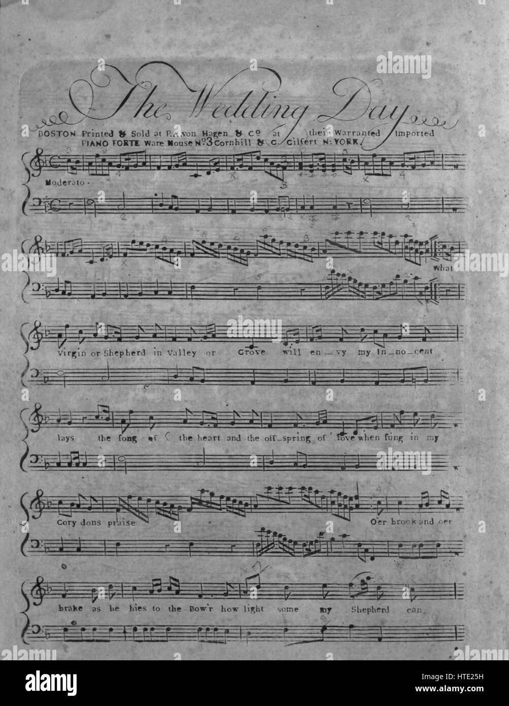 sheet music cover image of the song the wedding day with original