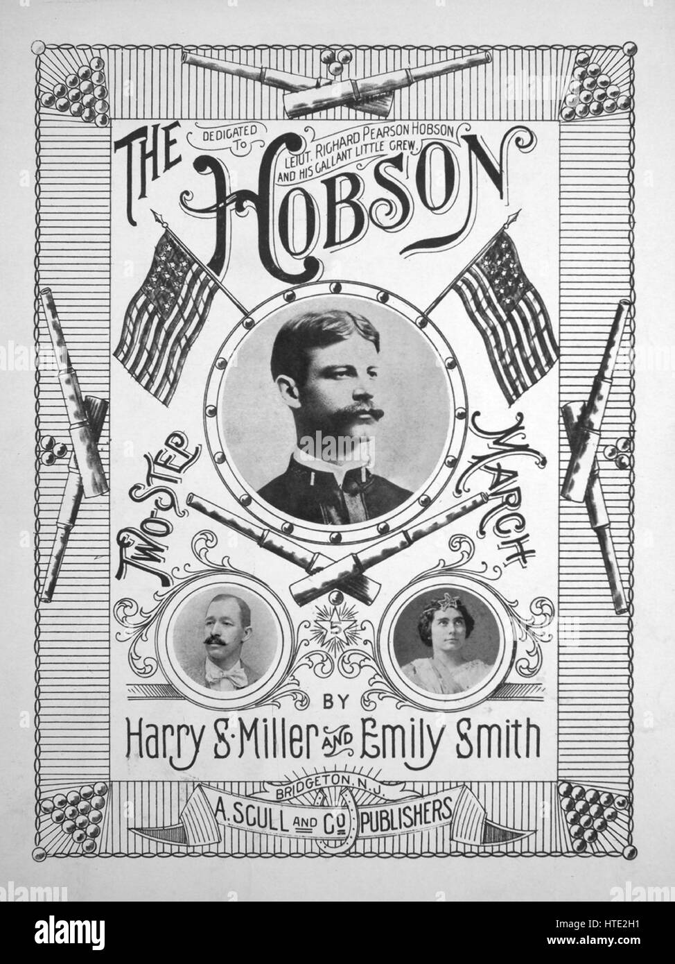 Sheet music cover image of the song 'The Hobson', with original authorship notes reading 'by Harry S - Stock Image