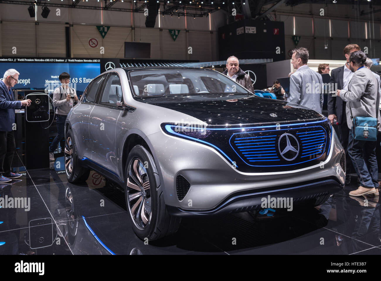 A Mercedes Benz electric concept car at the Geneva, Switzeroland car show. Stock Photo