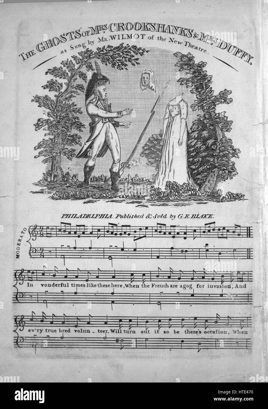 Sheet music cover image of the song 'The Ghosts of Mrs