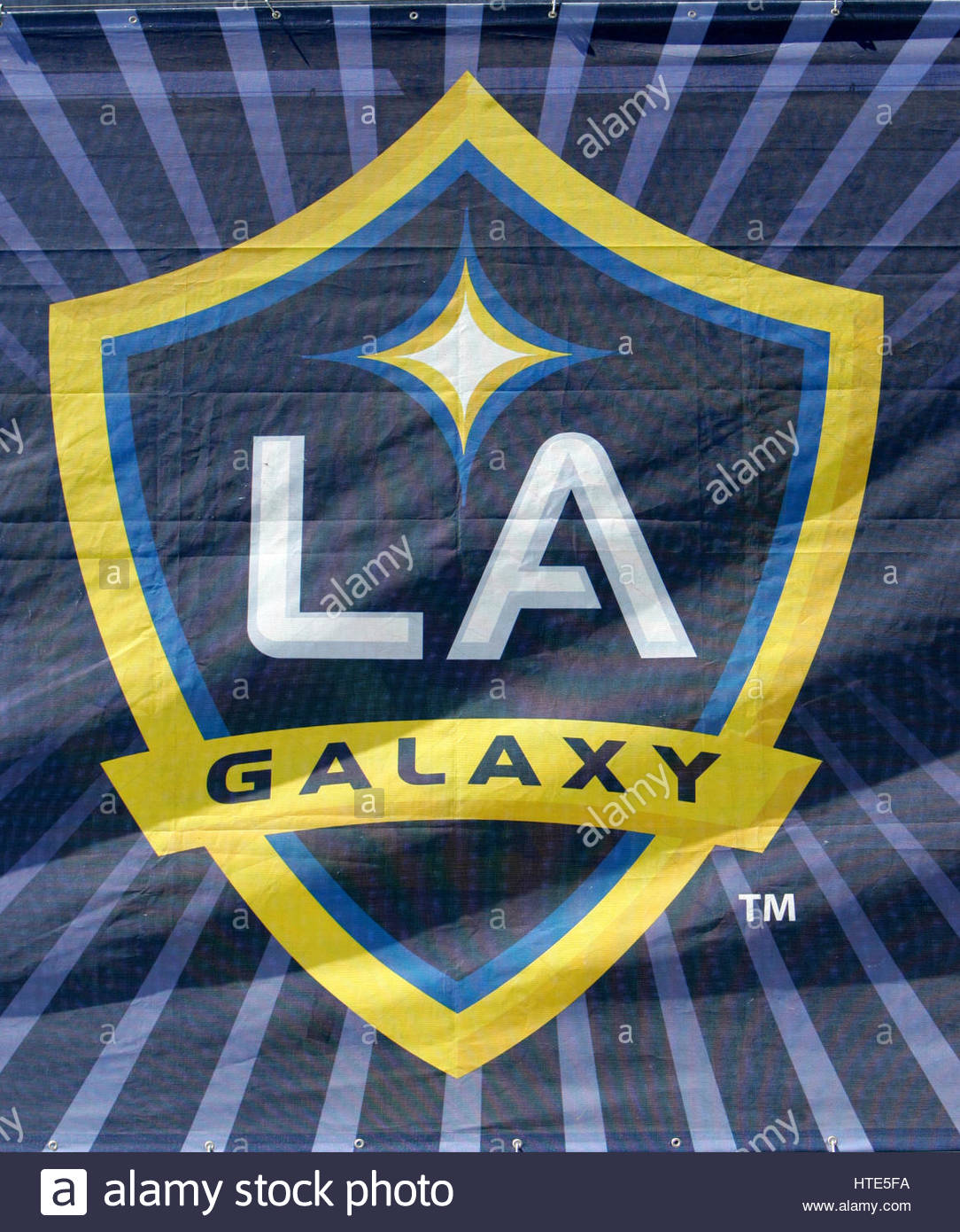 File photo dated 13-04-2008 of LA Galaxy's club crest. - Stock Image