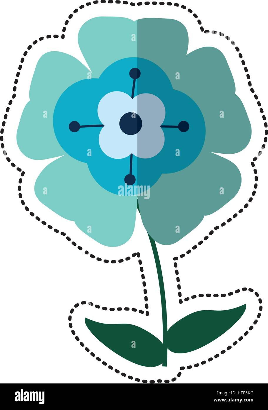 cartoon flower flourish natural - Stock Image