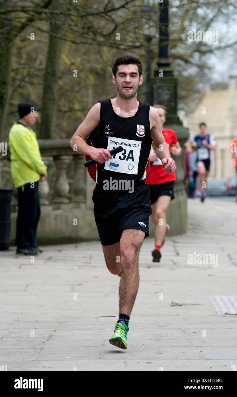 Runners in the Teddy Hall Relays, Oxford, UK - Stock Image