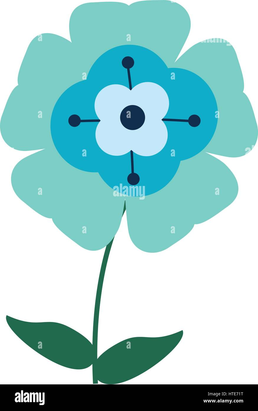 flower flourish natural - Stock Image