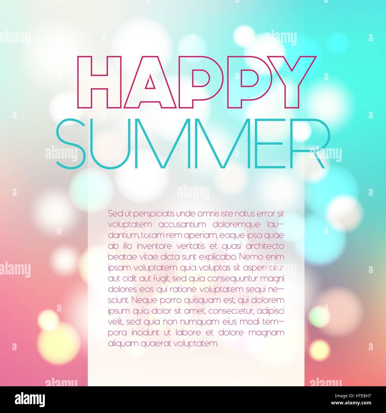 Blurred summer postcard - Stock Vector