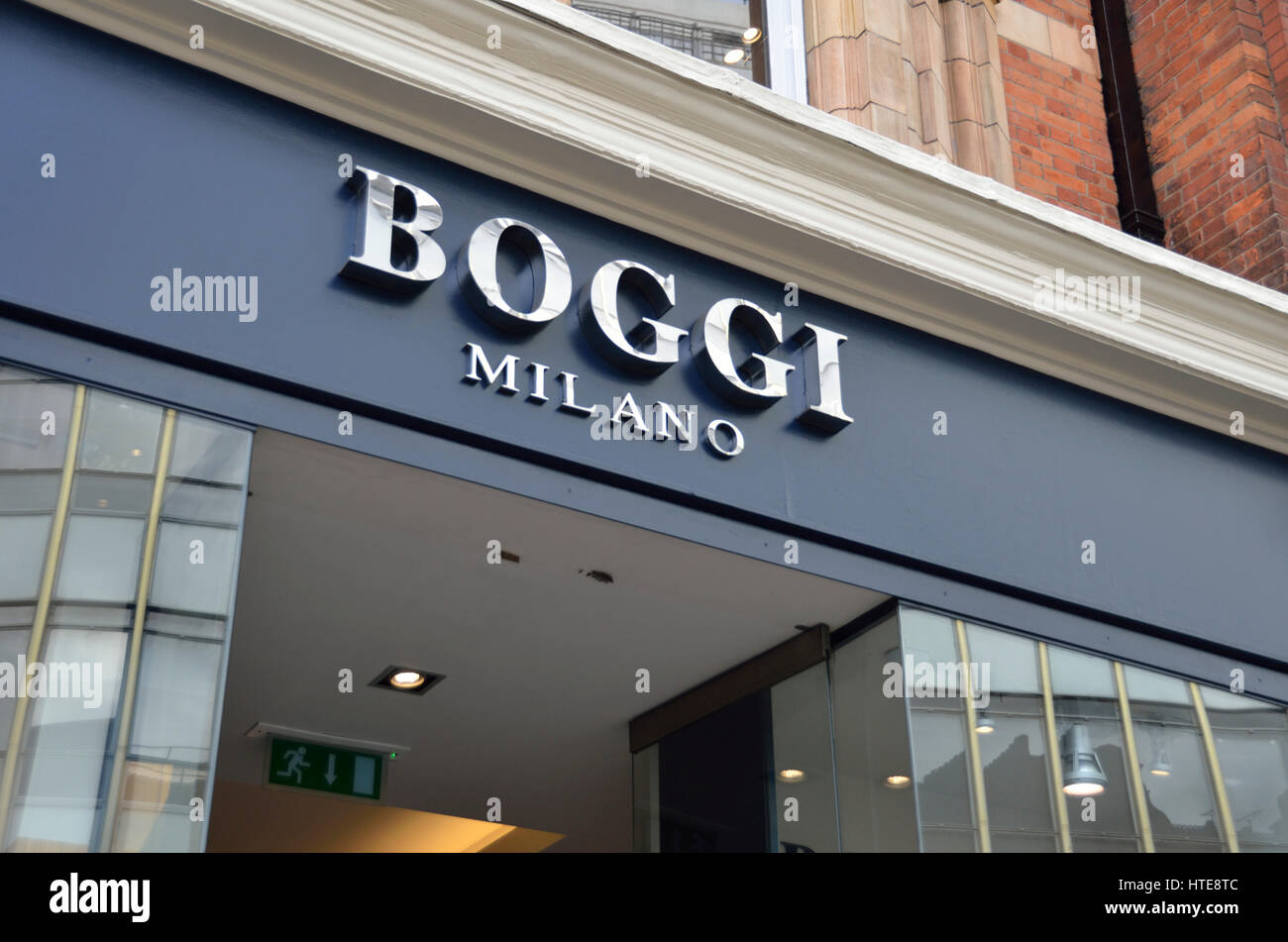 Boggi Milano meanswear shop in Sloane Square, Chelsea, London, UK - Stock Image