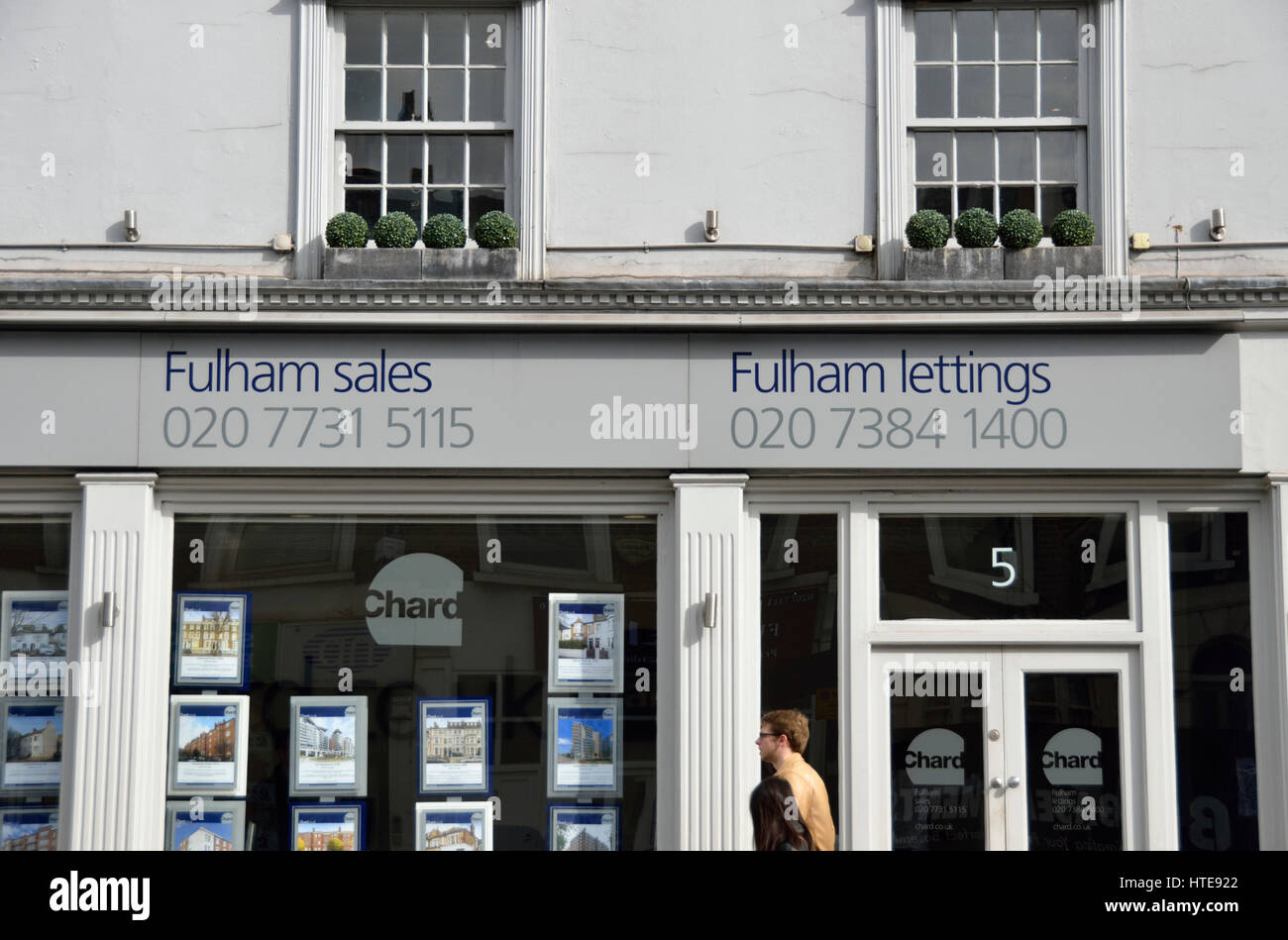 Fulham estate agent lettings and sales, London, UK. - Stock Image