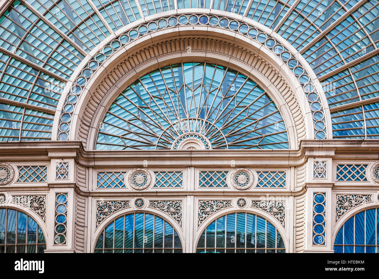The exterior of the Paul Hamlyn Hall (old Floral Hall) part of The Royal Opera House in Covent Garden, London. - Stock Image