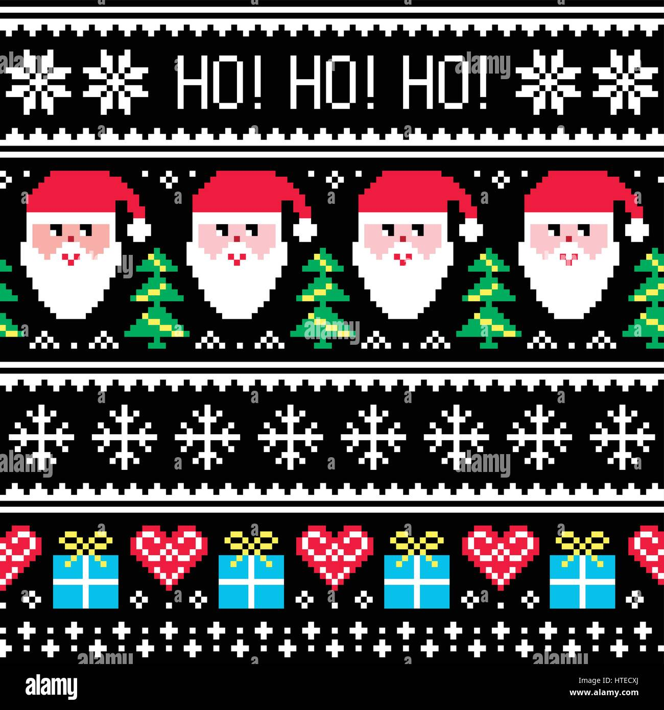 8909ef2e6 Christmas jumper or sweater seamless pattern with Santa and presents ...