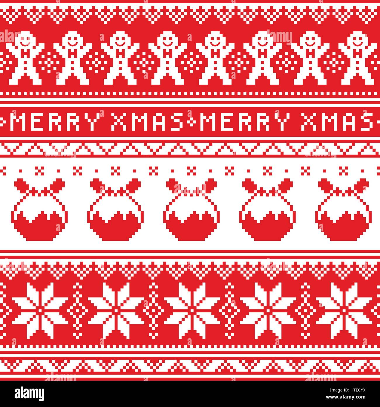 18339a465028 Christmas jumper or sweater seamless pattern with gingerbread man and  Christmas pudding