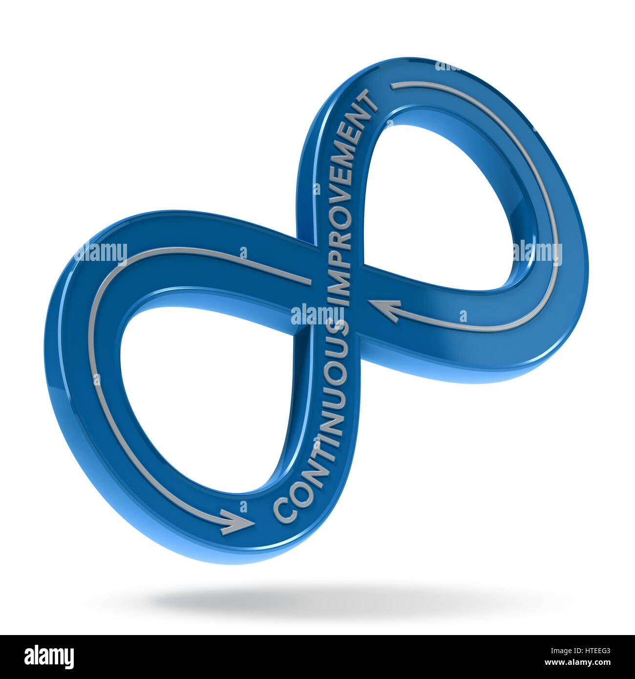 3d Illustration Of An Infinite Symbol With The Text Continuous Stock