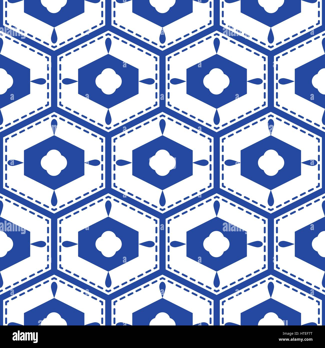 Blue and white mediterranean seamless tile pattern. Geometric Stock ...