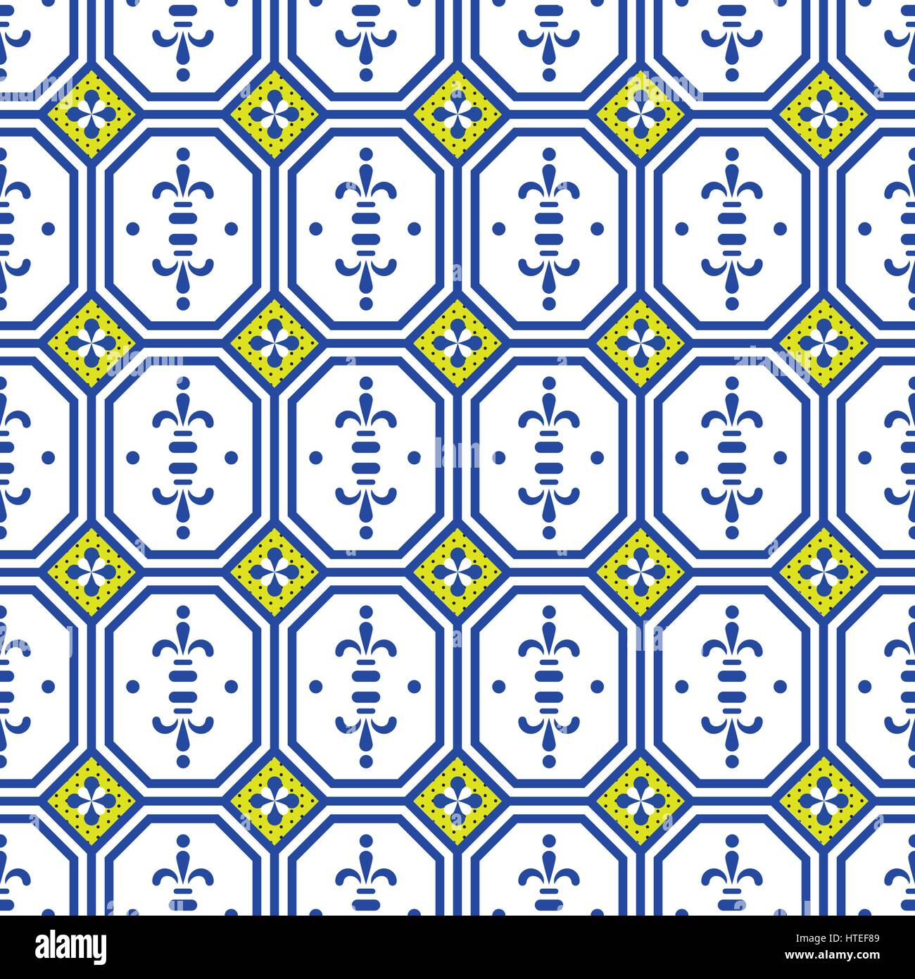 Ceramic tiles mediterranean seamless pattern. Geometric retro shapes ...