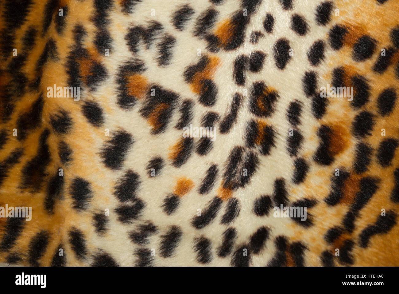 Leopard skin, fake fur, imitation - Stock Image