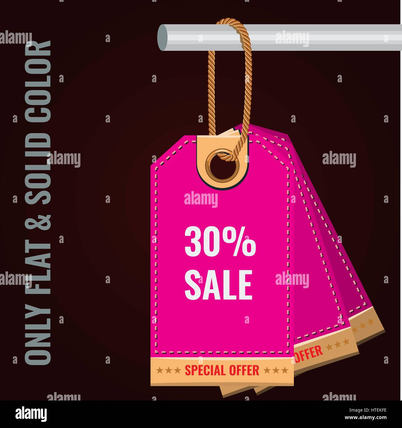 Special Sale Or Discount Offer Tag Banner Solid And Flat Color Style Design Vector
