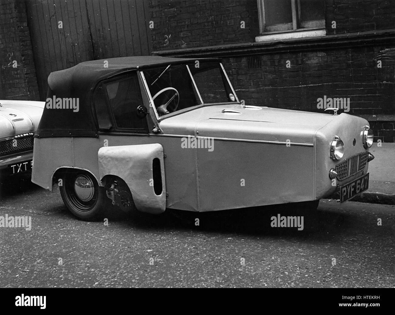 1956 Gordon 197cc 3 wheeler. - Stock Image
