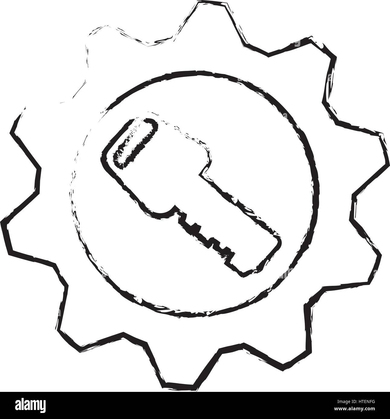 Security key device - Stock Image