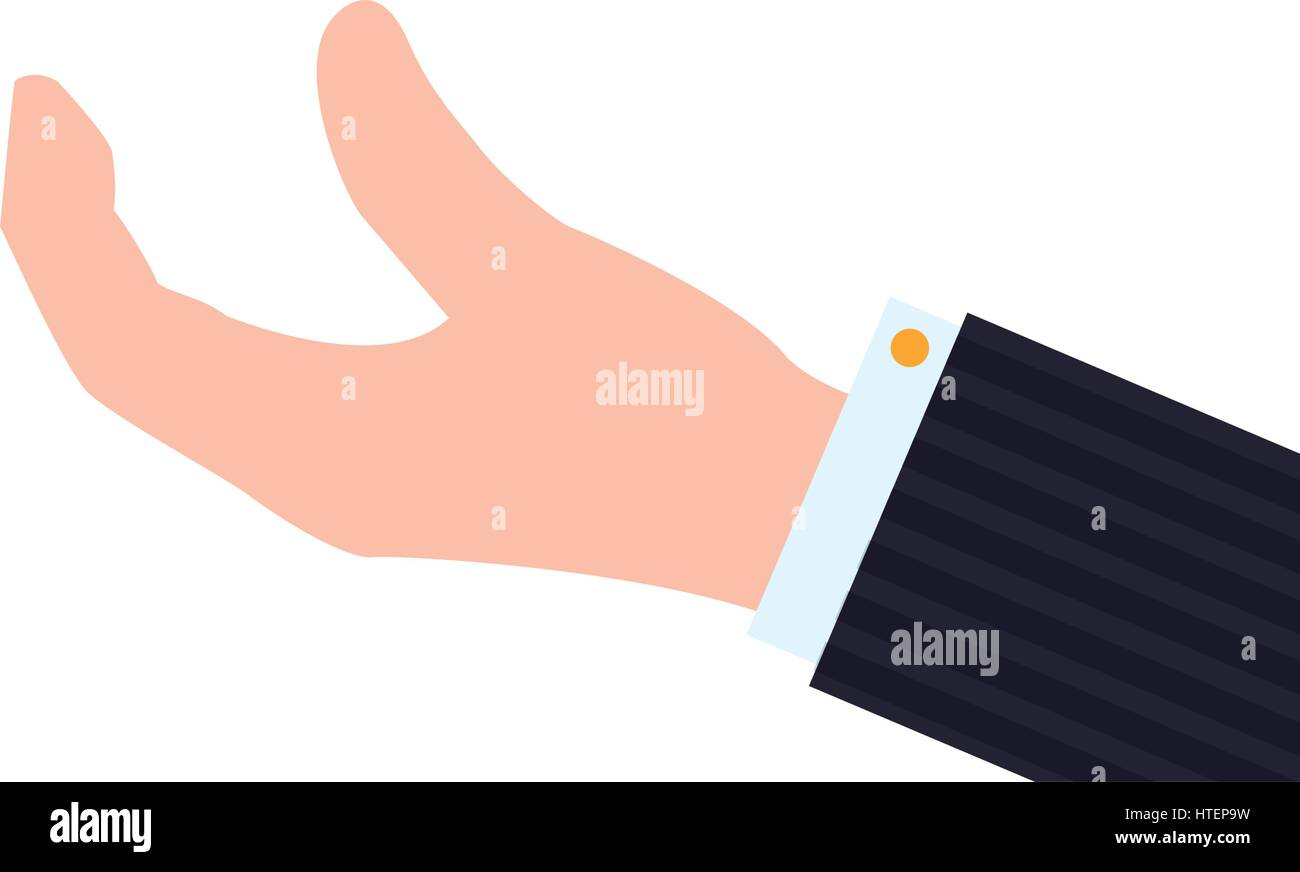 Hand palm open - Stock Image