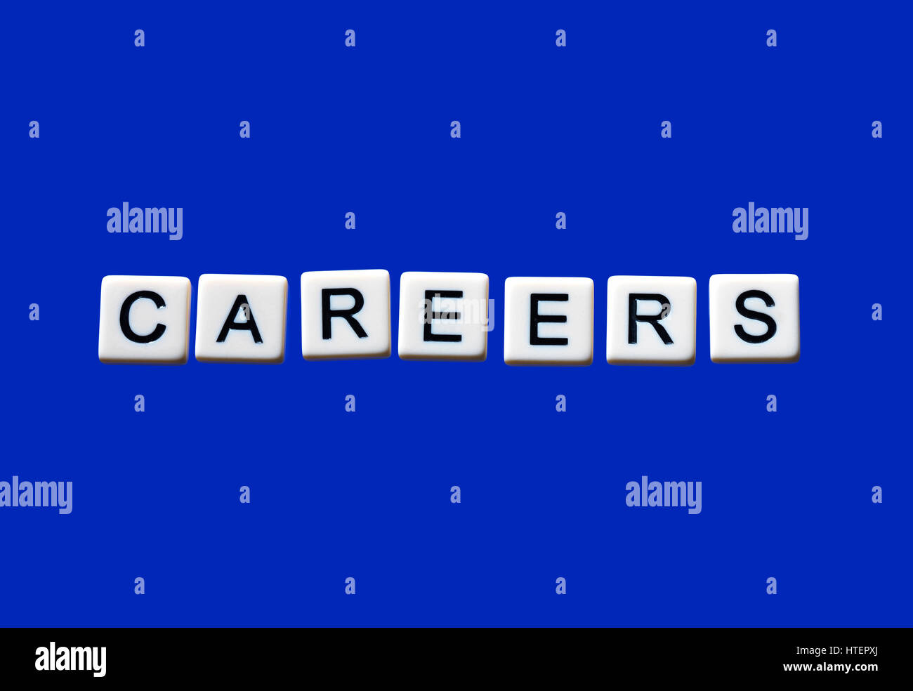 Careers highlighted on white blocks - Stock Image