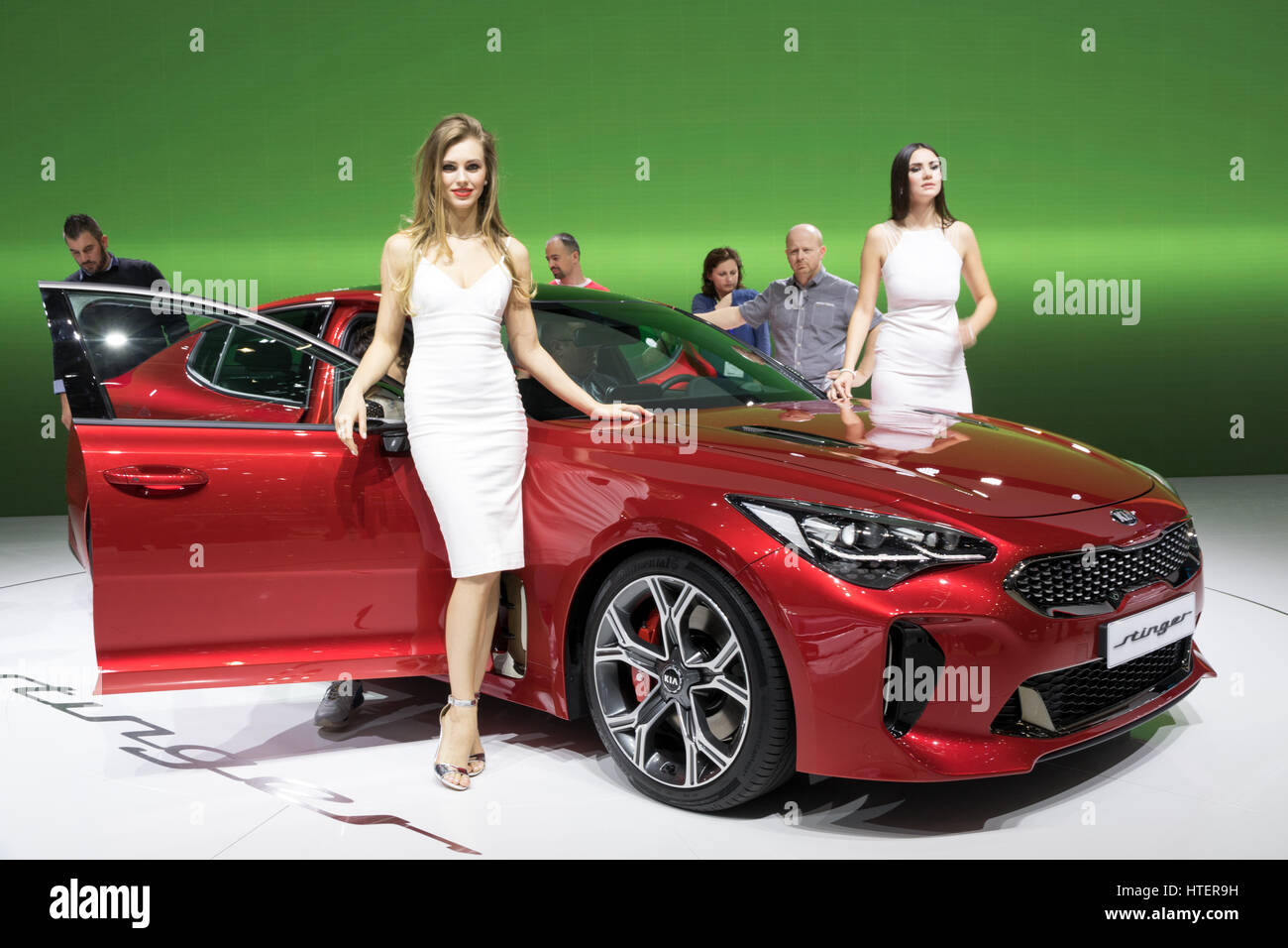 Geneva Switzerland March 8 2017 Kia Stinger Car