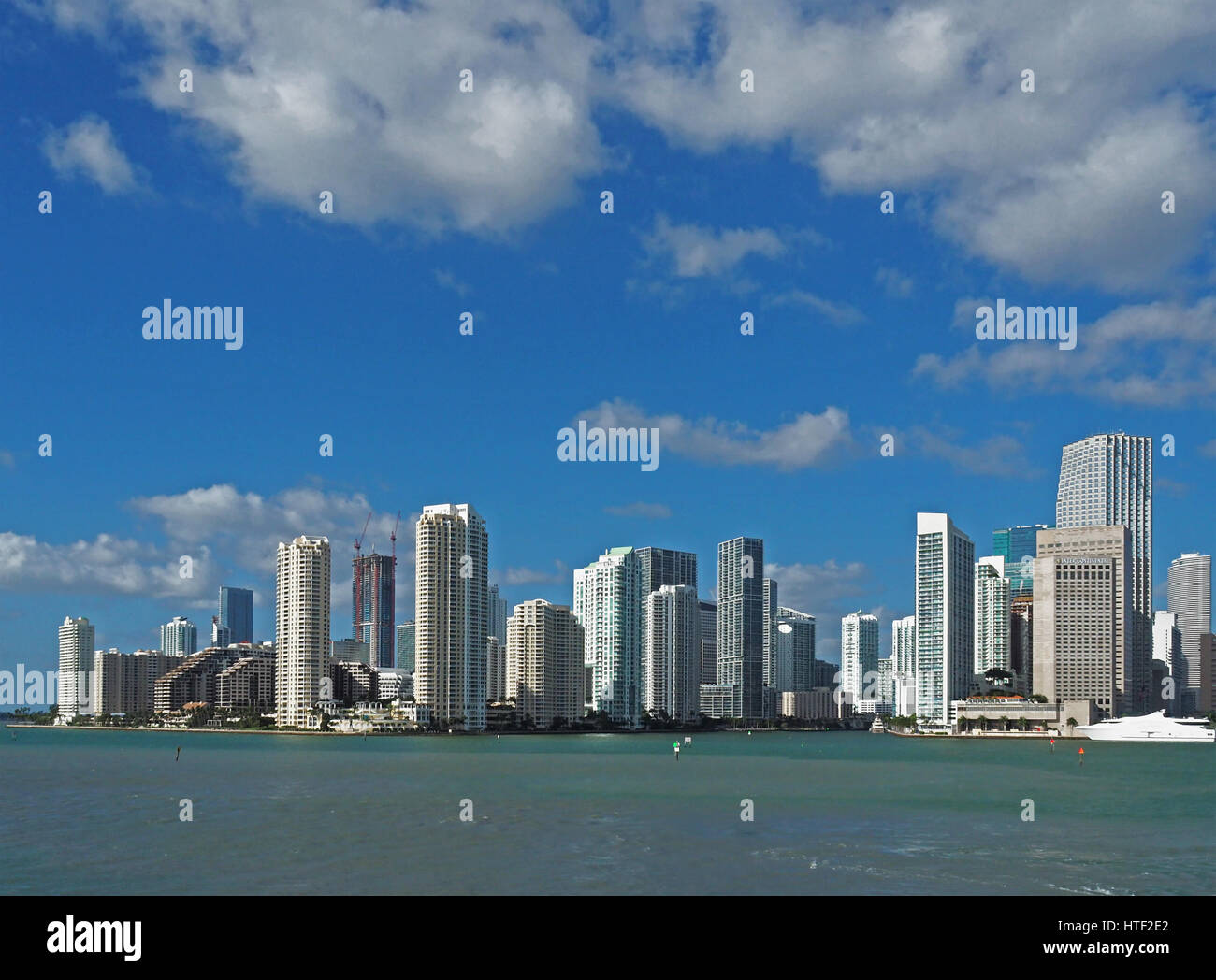 Miami downtown skyline. - Stock Image