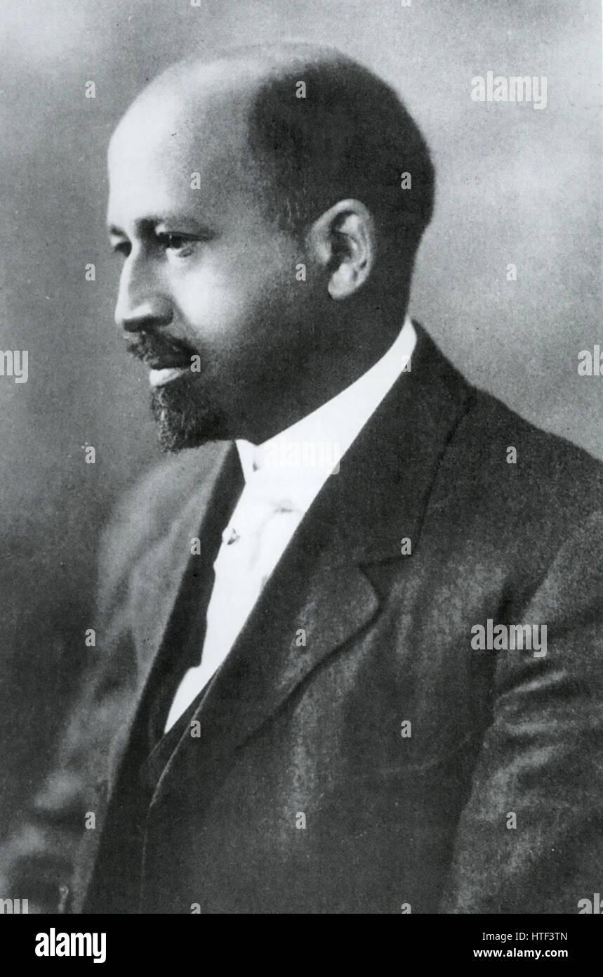 WILLIAM E.B. Du BOIS (1868-1963) American academic and civil rights activist in 1904 - Stock Image