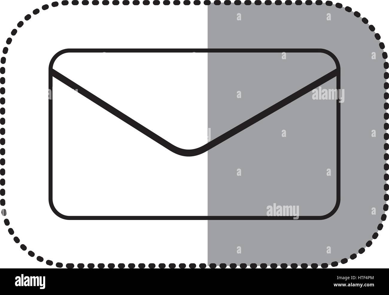 figure e-mail message icon - Stock Image
